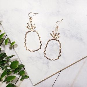 Boho Pineapple Geometric Earrings